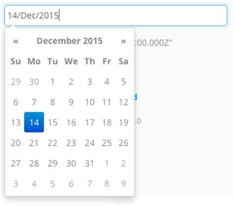 P Calendar Angular 2 Angularjs Date Picker