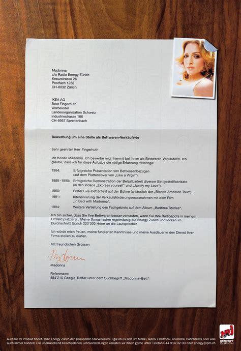 Bewerbungsschreiben Verkäuferin H M Radio Energy Bewerbung Madonna Ruf Lanz