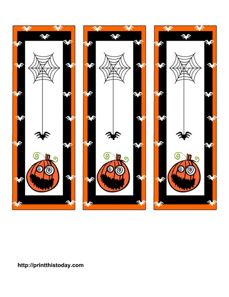printable halloween bookmarks to color free printable halloween bookmarks