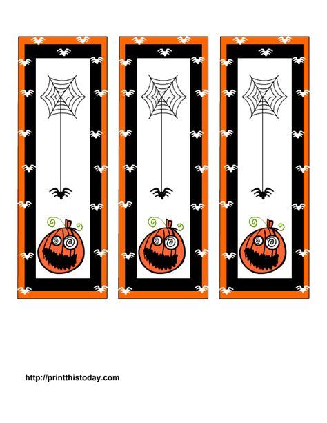 printable pumpkin bookmarks free printable halloween bookmarks