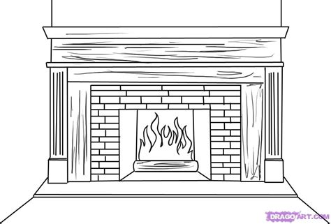 Fireplace Not Drawing by How To Draw A Fireplace Step By Step Stuff Pop Culture