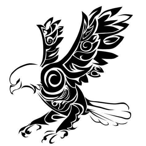76 Percent Of The Letter Flashed Tribal Eagle Tribal Eagle Tattoos Designs And