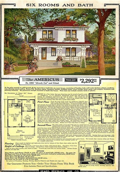Sears Roebuck House Plans 1906 Americus Sears Roebuck House Plan Home Plans House Plans And House