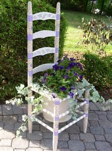 Chair Planter by Painted Chair Planter