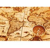 Wallpaper Map Compass Old