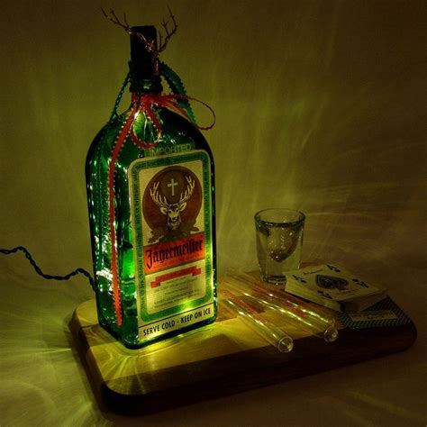 jaegermeister light up liquor bottle lighted decorated