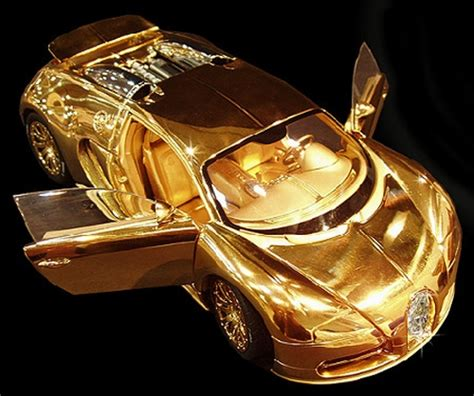 Bugatti Veyron model made of gold and diamonds is more
