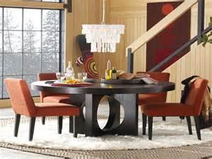 Black wooden round table dining room sets via pinterest com
