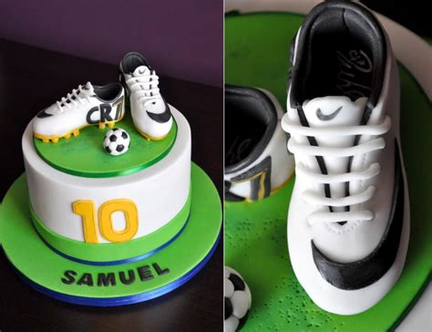 football shoe cake soccer shoes cake by cakesviz menu ideas