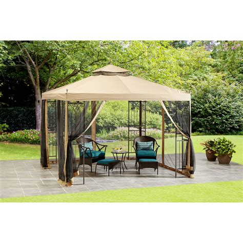 easy gazebo mainstays 10 x 10 steel easy assemby gazebo at garden