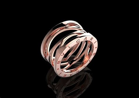 bvlgari ring 070 3d model stl 3dm bvlgari bulgari style ring printable 3d cad stl 3d model