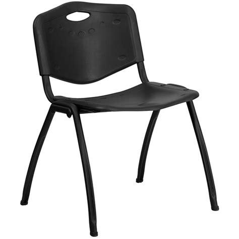 Hercules Chair by Hercules Series 880 Lb Capacity Black Polypropylene Stack