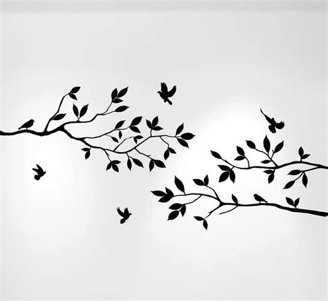 Tree Branch Wall Sticker tree branches wall decal with birds vinyl sticker nursery