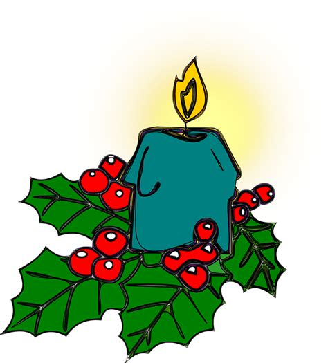 clipart natalizi free vector graphic candle free image