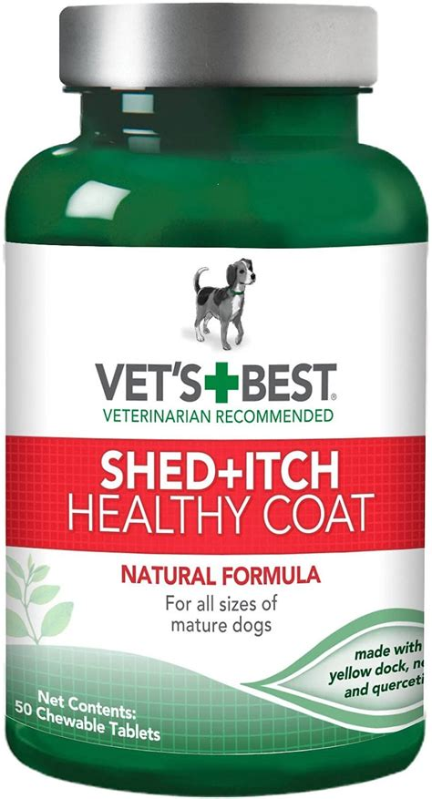 Supplements For Shedding Dogs by Vet S Best Healthy Coat Shed Itch Supplement 50