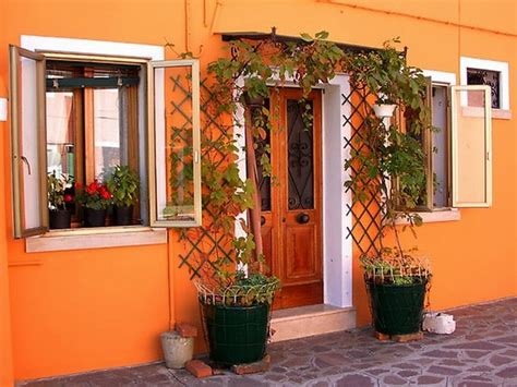 Garden Wall Paint Color X Exemplary Tropical House Colors With Orange Exterior