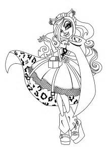 clawdeen wolf monster coloring pages kids printable free monster