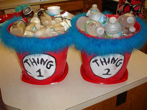 Thing 1 Thing 2 Baby Shower by Thing 1 Thing 2 Beverage Buckets For A Baby Shower For