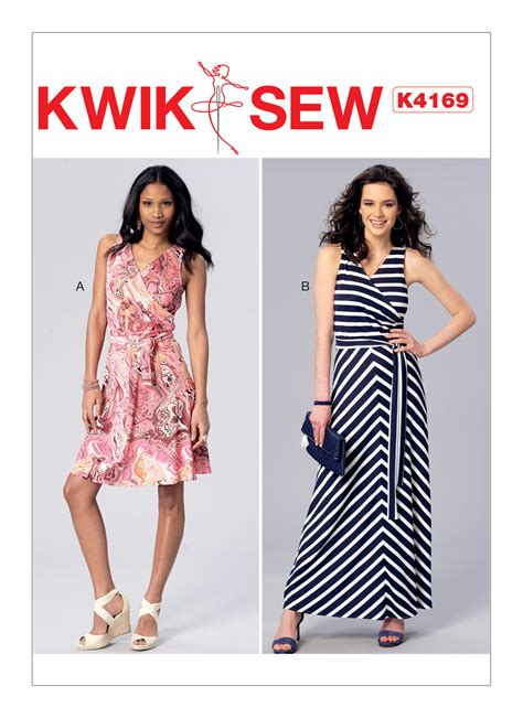 pattern review kwik sew 3601 kwik sew 4169 misses surplice a line dresses and sash