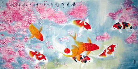 new year koi fish koi fish painting 0 2381004 66cm x 136cm 26 x 53