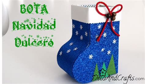botas de papel para navidad dulcero bota navide 241 a de cart 243 n decoandcrafts youtube