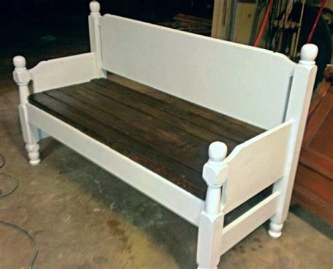 bench made from a bed bench made from old bed for the home pinterest