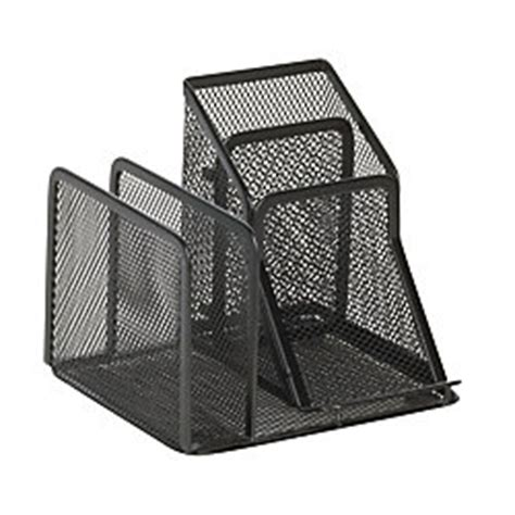 officemax mesh 2 sorter desk organizer black by office