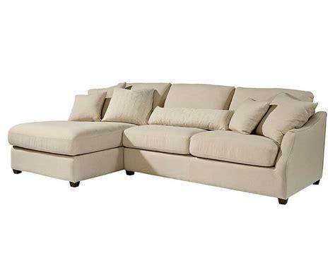 left arm sofa magnolia home 55505linlaf linen homestead sofa chaise left