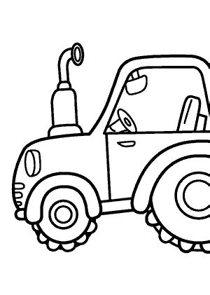 tractor transportation coloring pages for kids printable