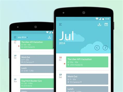 design inspiration apps android 260 best images about mobile ui calendar on pinterest