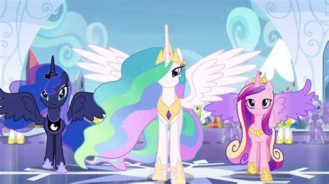 newly hair style high poni bakcming image celestia luna and cadance stepping forward s4e25
