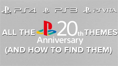 ps4 themes 20th anniversary all the playstation 20th anniversary themes and how to