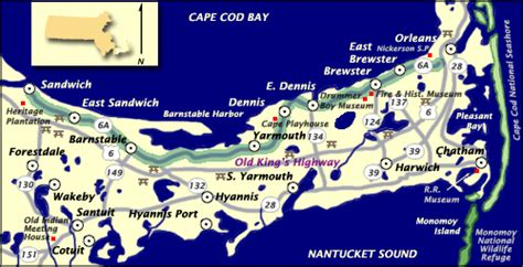 route 6 cape cod maps the king s highway
