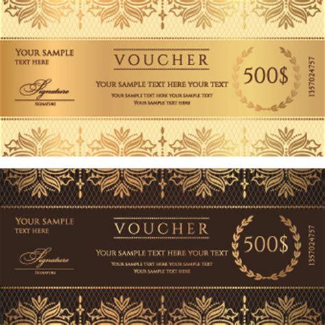 flower design voucher code voucher template vector design free vector in encapsulated