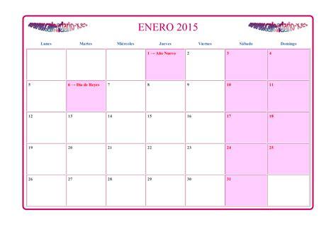 Calendario Enero Calendario Enero 2015