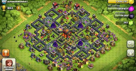 building layout game of war game of war fire age strategy clash of clans town hall 10