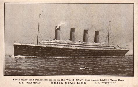 sinking boat interview question olympic titanic postcard pre sinking