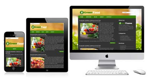 themes html5 responsive free zgreenfood responsive html5 templates themes