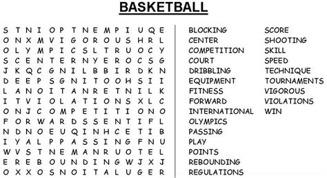 printable word search basketball basketball word search activity shelter