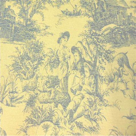toile upholstery fabric drapery upholstery fabric blue toile on yellow background