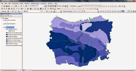 tutorial pemetaan arcgis peta hidrologi kota semarang format shp file arcgis
