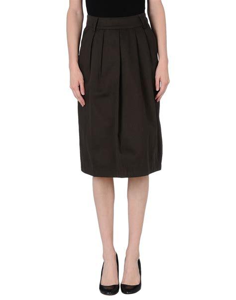 camo knee length skirt in khaki lyst