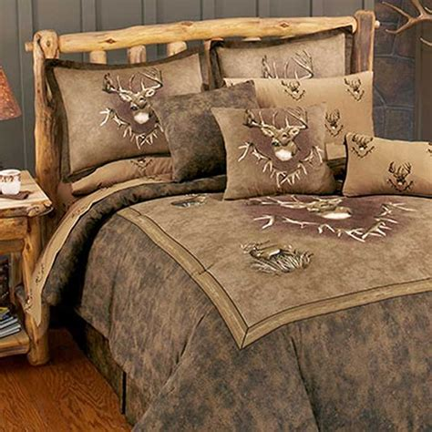 deer bedding set whitetail ridge comforter set queen size lodge bedding