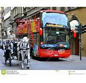 Tourist Transportation Bus In Italy Editorial Stock Photo