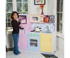 kidkraft large pastel play kitchen bizrate