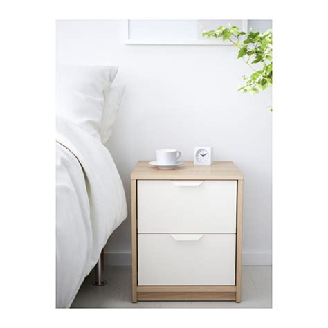 ikea askvoll askvoll chest of 2 drawers white stained oak effect white 41x48 cm ikea
