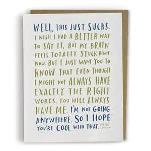 a sympathy card for when you don t what to say