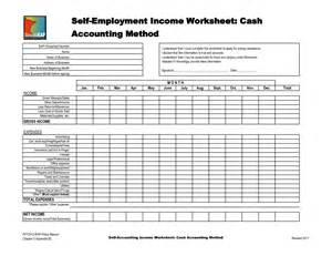 Printables Self Employed Income Calculation Worksheet self employment worksheet davezan printables employed income safarmediapps