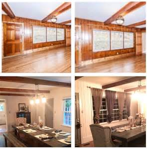 Knotty pine renovation i loved the beams but hated the dated feel of