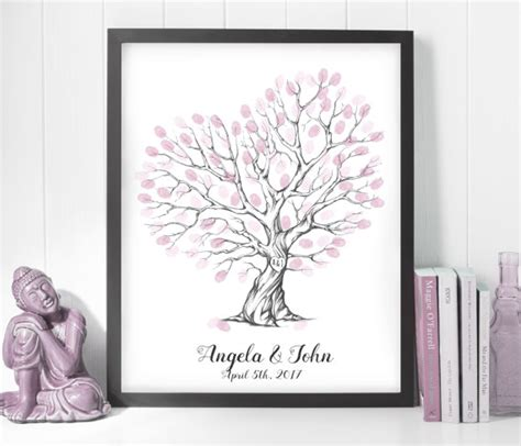 Wedding Gift Print by Guest Book Ideas Finger Print Printable Wedding Gift